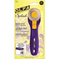 Olfa 45mm Rotary Cutter Splash Purple #1120311