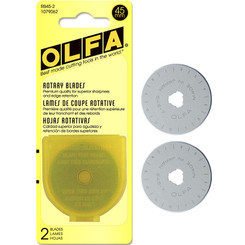 Olfa Rotary Blades 45mm - 2 pack #1079062
