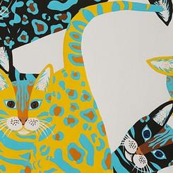 Kenyan Cat #8801 Alexander Henry Blk/Gold