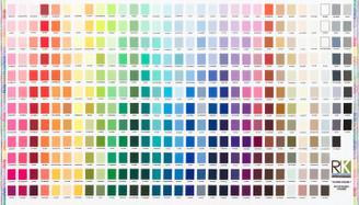 Kona Printed Color Chart Fabric  Panel#SRKD19900-205 multi Robert Kaufman