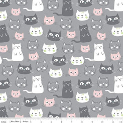 Purrfect Day Main Gray (Cats) #C9900 Riley Blake