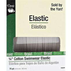 "Dritz 1/4"" Cotton Swimwear Elastic Natural 9485N"