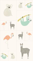 Zoology Panel #48300-11 by Gingiber for Moda
