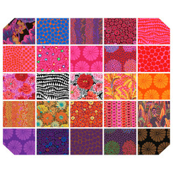 Kaffe Fassett Collective Feb 2021 Hot Fat Quarter Bundle Free Spirit