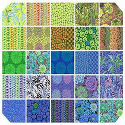 Kaffe Fassett Feb 2021 Cool Fat Quarter Bundle Free Spirit