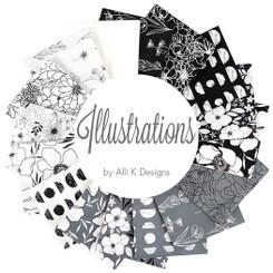 Illustrations Fat Quarter Bundle by Alli K Designs #11500AB -Moda