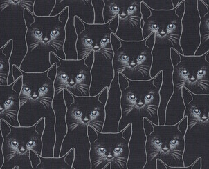 Full Moon Cats - Hoffman Fabrics