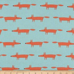 Mr. Fox - Aqua - Free Spirit fabrics