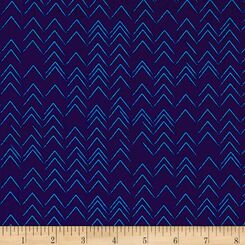 Modern Marks Navy Arrows - Contempo/Benartex fabrics