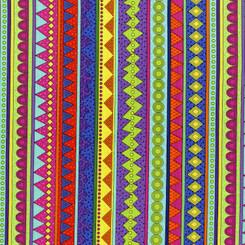 Llama Llama Bo Bama Stripe - RJR fabrics