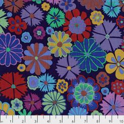 Folk Flower Purple - Free Spirit fabrics