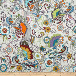 Quill Peacock Cabanna - Robert Kaufman fabrics