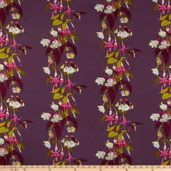 Name Drop Fuchsia - Free Spirit fabrics