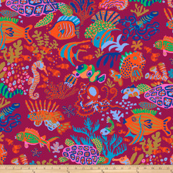 Scuba Red - Free Spirit fabrics