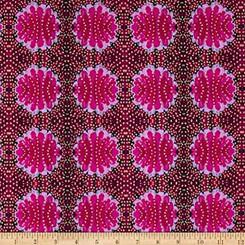 Judith's Fancy Barbara Magenta - Free Spirit fabrics