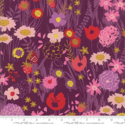 Growing Beautiful Plum Wildflowers - Moda fabrics