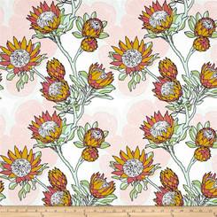 Cali Mod Floral Stock Cactus - Free Spirit fabrics
