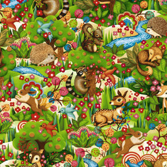Woodland Friends Master Allove - Paintbrush Studio Fabrics