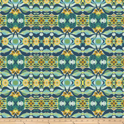 Garden Dreams Wave Blue - Free Spirit fabrics