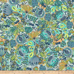 Garden Dreams Secret Garden Blue - Free Spirit fabrics