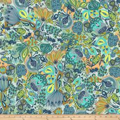 Garden Dreams Secret Garden Blue - Free Spirit fabrics