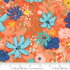 Wild Nectar Clementine Orange - Moda fabrics