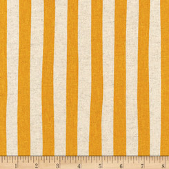 Sevenberry Canvas Natural Stripe Gold - Robert Kaufman fabrics