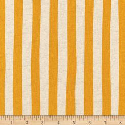 Sevenberry Canvas Natural Stripe Gold - Robert Kaufman fabrics