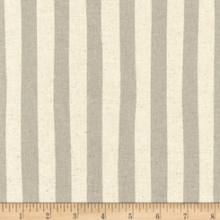 Sevenberry Canvas Natural Stripe Grey - Robert Kaufman fabrics