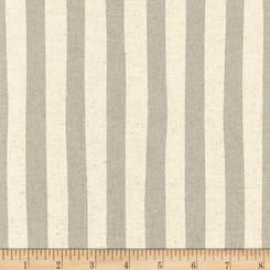 Sevenberry Canvas Natural Stripe Grey - Robert Kaufman fabrics