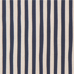 Sevenberry Canvas Natural Stripe Navy - Robert Kaufman fabrics