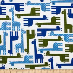 Urban Zoologie Giraffe  - Robert Kaufman fabrics