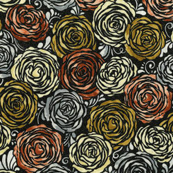 Precious Metals Roses - RJR fabrics