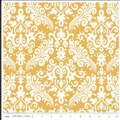 Mustard Damask - Riley Blake Designs