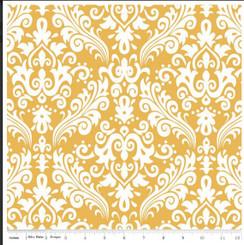 Mustard Damask - Riley Blake Designs