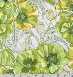 In the Bloom Avacado - Robert Kaufman fabrics