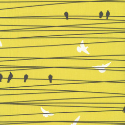 Birds on the Wire - Hoffman Fabric