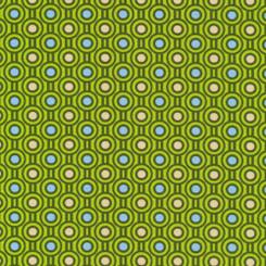 Woodland Friends Geo Green - Paintbrush Studio Fabrics