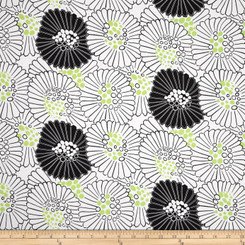 Mojito Large Toss Floral White - Clothworks fabric