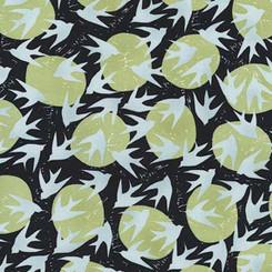 Marks Graphite Birds - Robert Kaufman fabrics