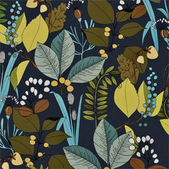 A Ghastlie Botanical Blue - Alexander Henry fabrics