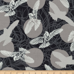 Musings Charcoal - Robert Kaufman fabrics