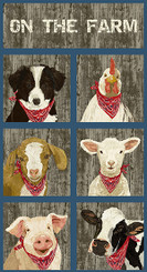 Barnyarn Babies panel - Andover Fabrics
