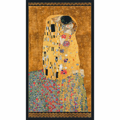The Kiss by Gustav Klimt panel - Robert Kaufman fabrics