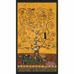 Tree of Life by Gustav Klimt panel - Robert Kaufman fabrics