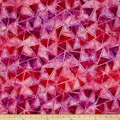 Artisan Batiks Graphic Elements Diamonds Punch - Robert Kaufman fabrics