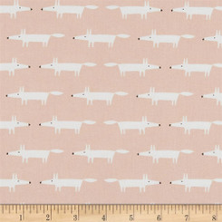 Little Mr. Fox - Blush - Free Spirit fabrics