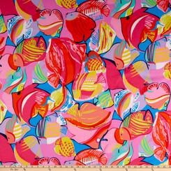 In the Reef Fish Aqua - Alexander Henry Fabrics