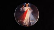 "Divine Mercy | 3 1/2"" Magnet (Blue Background)"