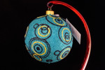 "Going in Circles - Turquoise 10 Cm Bulb (Approx. 4"")"